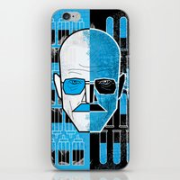 walter white iPhone & iPod Skins featuring Walter White by Micah Lanier