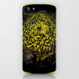 Black Yellow Pink Design iPhone Case