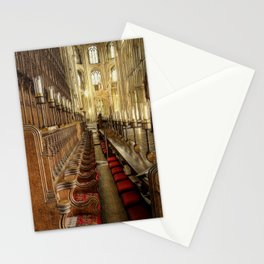 Peterborough Cathedral Pews Stationery Cards