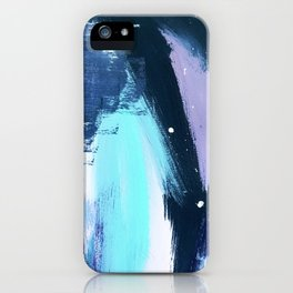 Playful [3]: a bold abstract piece in vibrant blues, pink, purple and white iPhone Case