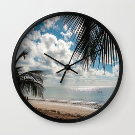 Couple at the beach Wall Clock