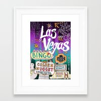 las vegas Framed Art Prints featuring Las Vegas by Lera Sxemka