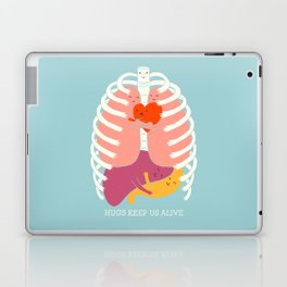Hugs keep us alive Laptop & iPad Skin