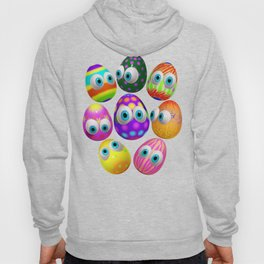Cute Easter Eggs Cartoon 3d Pattern Hoody