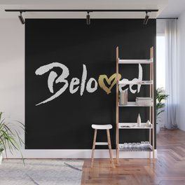 Beloved - White & Gold Wall Mural