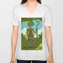 dryad nature tree forest guardian Unisex V-Neck