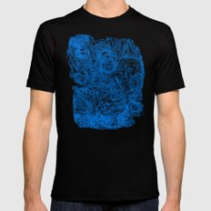 Crazy blue Mens Fitted Tee MEDIUM Black