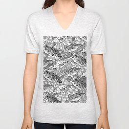 spotted puffs Unisex V-Neck