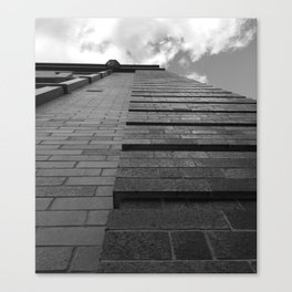 Vertical Brick Wall Architectural Photographic Print Canvas Print