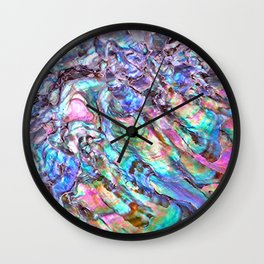 Shimmery Rainbow Abalone Mother of Pearl Wall Clock