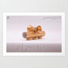 Caldhemiposc  Art Print