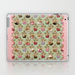Manzanas y corazones paz y amor Laptop & iPad Skin