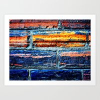 Bricks 1 Art Print
