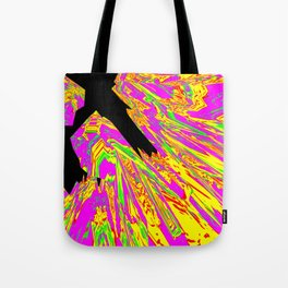 Pink Glitch Peaks Tote Bag