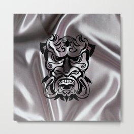 Vicious Tribal Mask on silk 015 Metal Print