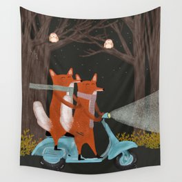 the fox mobile Wall Tapestry