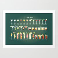 36 Cocktails Art Print