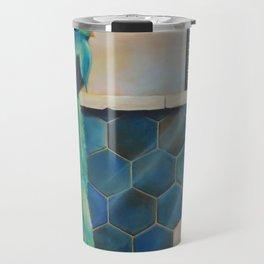 blue paradise bird Travel Mug
