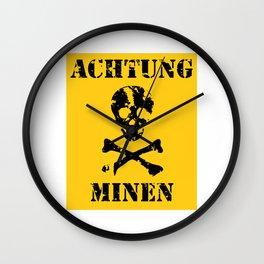 Achtung Minen Wall Clock