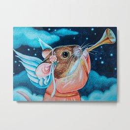 Trumpet Trumpet Mouse Angel Metal Print