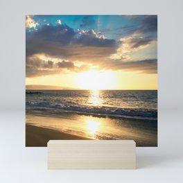 Poolenalena Beach Sunset Makena Maui Hawaii Mini Art Print