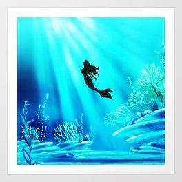 Light Of Mermaid Art Print