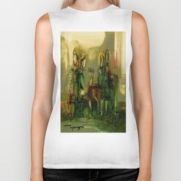 The Bremen Town Musicians, Abstract oil Painting Biker Tank