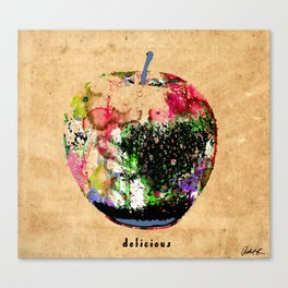 Apple Art Abstract Paintings Modern Watercolor Robert R Splashy Art Canvas Print
