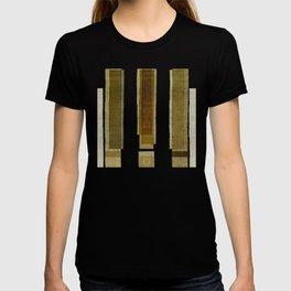 """Burlap Texture Greenery Columns"" T-shirt"