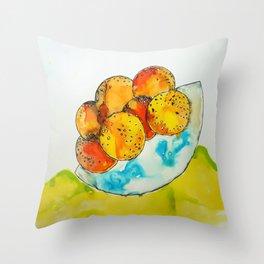 Juicy Orange Bowl Throw Pillow