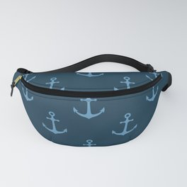 Nautical Anchor Pattern Fanny Pack