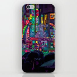 Tokyo Nights / Shibuya Neon Noir / Rain / Liam Wong iPhone Skin