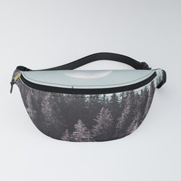 Snowy Forest Moon Fanny Pack