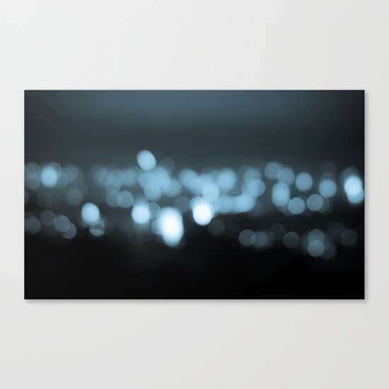frosty bokeh Canvas Print