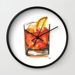Negroni Cocktail Hour Wall Clock