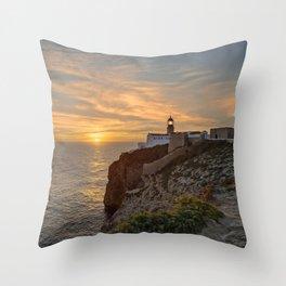 Cabo de Sao Vicente, Portugal Throw Pillow