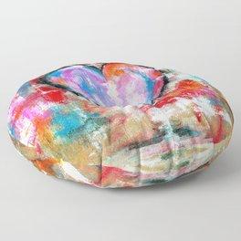 Reckless Heart, Abstract Art Painting Floor Pillow