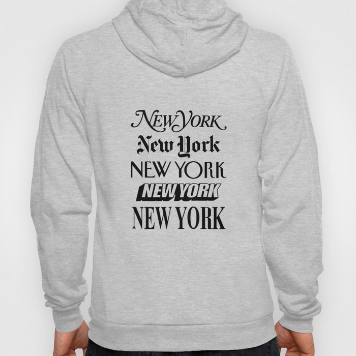 I Heart New York City Black and White New York Poster I Love NYC Design black-white home wall decor Hoody