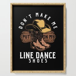 Line Dance Shoes Cowboy Boots Country Music Gift Serving Tray