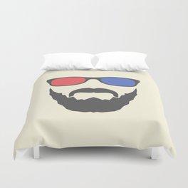 3D beard Duvet Cover