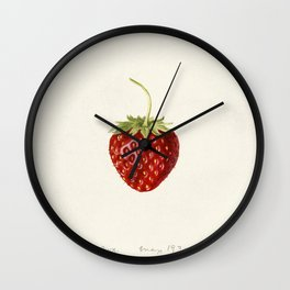 Strawberry (Fragaria) (1930) by Louis Charles Christopher Krieger Wall Clock