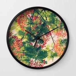Royal Poinciana Colors Photograph Wall Clock