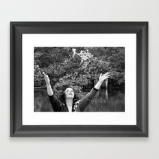 Falling Crystals Framed Art Print