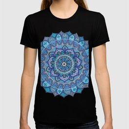 Blue Mandala Art T-shirt