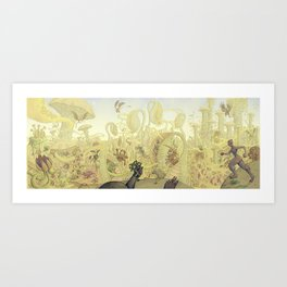 Mycelium Seep - Cover art Art Print