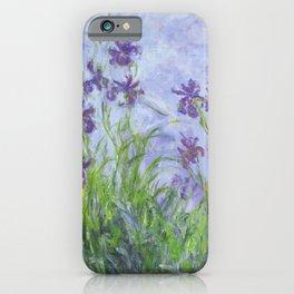 Claude Monet Lilac Irises French Impressionist Art iPhone Case