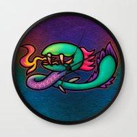 kraken Wall Clocks featuring Kraken by likelikes