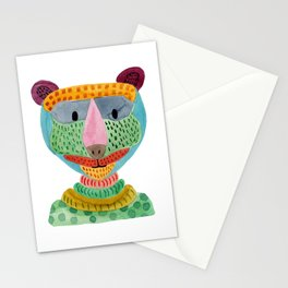 Cute Bear Watecolor Stationery Cards