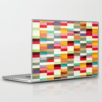 stripes Laptop & iPad Skins featuring Stripes by Danny Ivan