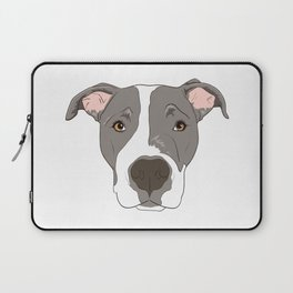 Pitbull Portrait Laptop Sleeve